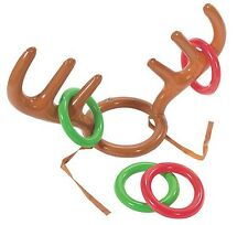 1 x Inflatable Reindeer Antler Ring Toss Fun Game Favours Christmas Xmas Party