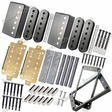 LP Guitar Humbucker Pickup Kits Accessories/Brass Cover&Baseplate/Spacer/Bobbin