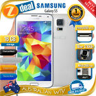 SAMSUNG GALAXY S5 SM-G900I 4G LTE 100% UNLOCKED PHONE WHITE AUS WTY (SEALED BOX)