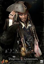 "Hot Toys DX Captain Jack Sparrow - Pirates Of The Caribbean 1:6 12"" Sideshow"