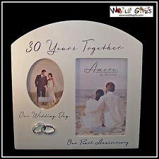 30ème Anniversaire 30 ans ensemble perle cadre photo