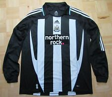 NEWCASTLE UNITED home shirt Long-sleeve ADIDAS 2007-2009 The Magpies /adult/ XL