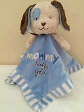 Messages From The Heart Puppy Dog Security Blanket Lovey Mommy Ruffs You Blue
