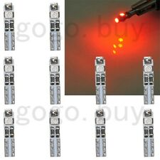 10 x Red 58 70 73 74 T5 Dashboard Gauge License Plate 3 3528 SMD LED Bulb Light