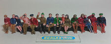 Scalextric Vintage Seated Spectators Figures F306 3 ROWS 1.32 AIRFIX NINCO SCX A