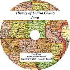 1912 History & Genealogy of LOUISA County Iowa  IA