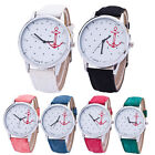 Hot Women's Casual Crystal Leather Band Anchor Analog Quartz Wrist Watch NEW