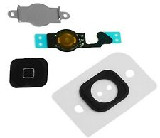 Home Menu Button Key Cap + Flex Cable + Bracket Holder for Apple iPhone 5 -BLACK