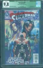Superman 202 CGC 9.8 Michael Turner 4X Signed Caldwell Gorder Top 1 Aspen COA
