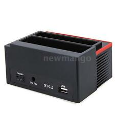 "2.5/3.5"" SATA IDE HDD Docking Station Clone USB 2.0 HUB C0Q0"