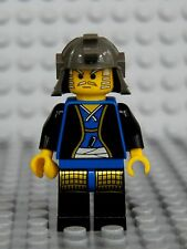 Lego Castle Minifig BLUE SHOGUN NINJA Warrior -w/Gray Helmet