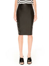The Fifth this Is Everything Faux Leather Black Stretch Pencil Skirt XS S M L