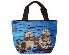 Sea Otters Lunch Bag Tote by Salvador Kitti - Support Wildlife Conservation