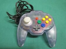 NINTENDO N64 HORI PAD MINI CLEAR PURPLE Controller JAPAN Clean &Work fully 27624