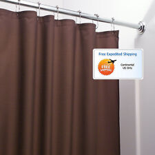Chocolate Bathroom Shower Curtain 72 x 72 Mold Mildew Free Water Repellent Soft