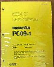 Komatsu Service PC09-1 Shop Manual Repair Book NEW