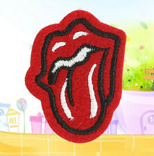 FD1333 Gothic Punk Tongue Embroidery Cloth Iron On Patch Sew Motif Applique 1PC