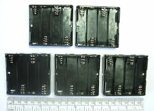 Battery holder for 4 X 'AA' (UM-3) cell - with pins for PCB mounting - pack of 5