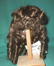 "doll wig brown 11"" to 11.5"" Wancke long hair w. french curls/lofty hairstyle"
