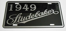 METAL LICENSE PLATE 1949 49 STUDEBAKER CHAMPION TRUCK WAGON COMMANDER STARLINER