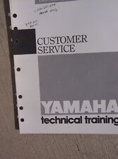 1989 Yamaha Motorcycle ATV Scooter Customer Service Manual Dealership Mechanic L