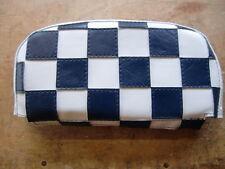Azul oscuro/blanco cheque Scooter respaldo cubierta (Bolso Estilo)