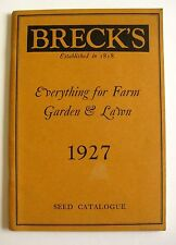1927 Breck's Farm, Garden, Seed and Lawn Catalog Excellent Condition!
