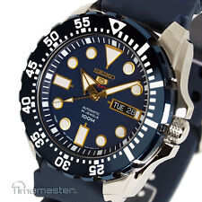 SEIKO 5 SPORTS AUTOMATIC BLUE FACE BLUE RUBBER STRAP SRP605J2