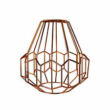 Retro Industrial Copper Metal Wire Frame Ceiling Light Pendant Shade Chandelier