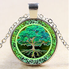 Photo Cabochon Glass Silver charms Pendant Necklace(Health life tree