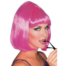 Pink Shoulder Length Bouffant Style Starlet Fashion Wig with Bangs