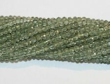 """AAA 14"""" St Green  Amethyst Faceted Rondelle   Beads 4mm Top Quality"""