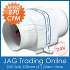 "***OUT OF STOCK*** 24V 270CFM IN-LINE BOAT BILGE AIR BLOWER SUIT 4"" HOSE-Inline"