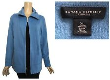 Banana Republic Blue 100% Cashmere Long Zip Cardigan Sweater XL