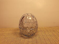 """Gorham Crystal Shades Of Spring Pale Blue Covered Egg Shaped Box 4 3/4"""" NWT"""