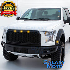 15-16 Ford F150 Raptor Conversion LED+Matte Black Replacement Mesh Grille+Shell