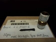 "PARKER 66MHNB MALE HEX NIPPLE 3/8""NPT BOTH ENDS BRASS"