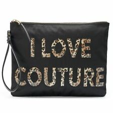 Juicy Couture - I Love Couture - Leopard Sequins Wristlet Black & Pink NWTs