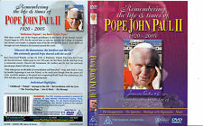 Pope John Paul 11-Remembering The Life And Times 1920-2005-Pope Movie- DVD