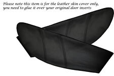 BLACK STITCH FITS  LOTUS ELAN M100 2X DOOR CARD TRIM INSERT LEATHER COVERS ONLY