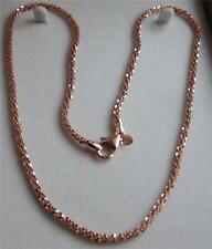 MILOR SIGNED BRONZO ITALIA ROSE GOLD PLAT BRONZE TICACLLE NECKLACE 45cm NEW QVC