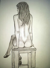 Aktzeichnung Kohle #90 Nude Drawing Erotic charcoal drawing/femme nu dessin,