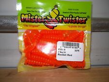 """Mr Twister 3"""" Meeny Tail Rocket Red 20/pack"""