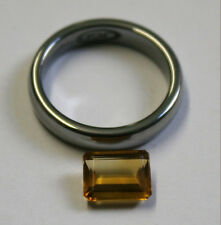 LOOSE YELLOW CITRINE NATURAL GEM 7X9MM EMERALD CUT FACETED 1.85CT GEMSTONE CI48
