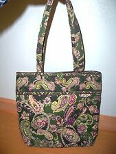 VERA BRADLEY CHELSEA GREEN TOTE BAG HANDBAG PURSE NICE