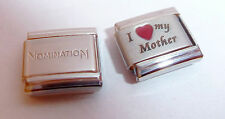 I LOVE MY MOTHER 9mm Italian Charm + 1x Genuine Nomination Classic RED HEART Mum