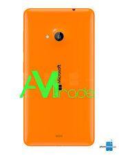 Scocca Cover Copribatteria posteriore Per Nokia LUMIA 535 ARANCIONE ORANGE NEW
