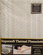 Lit double flanelle feuille set de lin beige rétro 100% coton brossé hiver