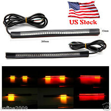 2016 Flexible Motorcycle Light Strip 8 Soft 48 LED Tail Brake Stop Turn Lamp US
