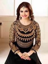 TRADITIONAL INDIAN PAKISTANI BLACK ANARKALI DRESS MATERIAL FOR GORGEOUS WOMEN